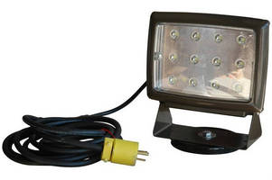 LED Blasting Light features 200 lb grip magnetic base.