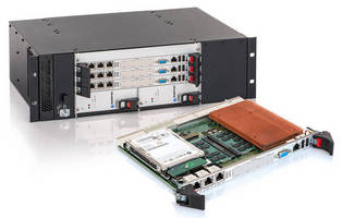 6U cPCI� Processor Board and Chassis offers 10 GbE throughput.