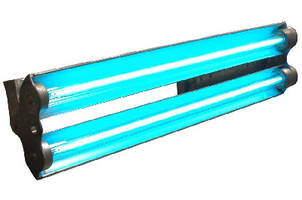 Fluorescent Light provides UV output for specialty operations.