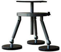 Tripod with Magnetic Foot Pads mounts to metal surfaces.