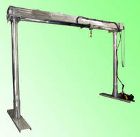 Portable Aluminum Gantry Crane has low-profile design.