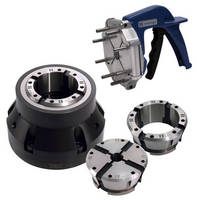 Quick-Change Collet System offers substitute for 3-jaw chucks.