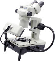 Binocular Stereo Microscope provides multiple light sources.