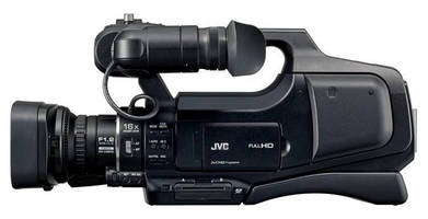 Shoulder-Supported HD Camcorder employs 12 MP CMOS imager.