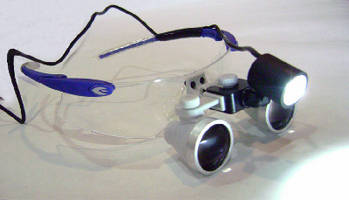Clip-On LED Headlight  includes waterproof loupe.