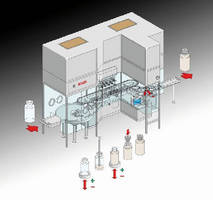 Vial Filling and Closing Machine processes 400 vials/min.