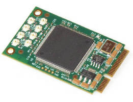Mini PCI Express Card provides 8-channel video capture.