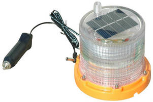 Solar-Powered LED Beacon is capable of 24/7 operation.
