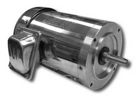 Washdown Duty AC Motors feature stainless steel construction.