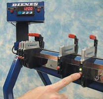 Manual Positioning Device replaces need for tape measure.