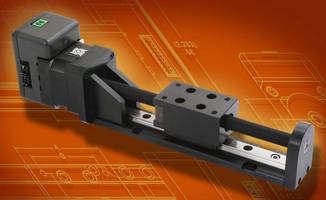Ball guide screw linear rail features integrated idea drive for Linear actuator stepper motor driven