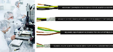 Power and Data Cables suit cleanroom applications.