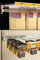 Merchandising System maximizes product facings.