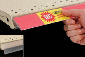 Label Holder  delivers product information at shelf edge.