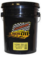 Full Synthetic Racing Motor Oil seals out rust, resists foaming.