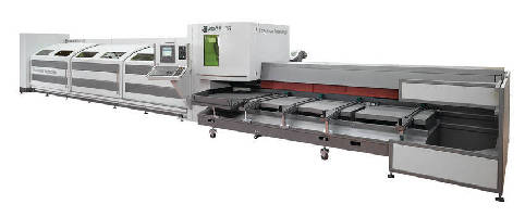 Laser Tube Cutting System handles small to medium-sized tubes.