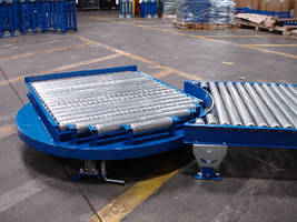 Manual Conveyor Turntable rotates 360 degrees.