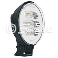 Vertical Oval LED Worklight produces flood beam pattern.