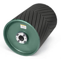 Conveyor Pulleys feature wear-resistant rubber compound.