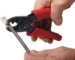 External Ground Crimp Tool performs 360 degree crimps.