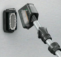 Rectangular Plug Connector has heavy-duty, plastic design.