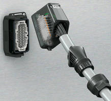 Rectangular Plug Connector resists impacts, vibrations.