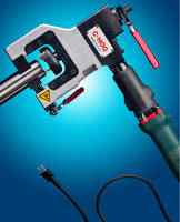 Electric OD Clamping End Prep Tool features 950 W motor.