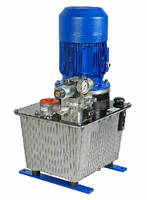 Hydraulic Power Unit activates slide plates or valve pistons.