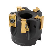 Milling Cutter achieves true 90� shoulders.