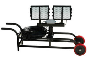 LED Light Cart provides portable worksite illumination.