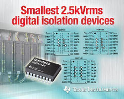 Digital Isolation Devices feature 2.5 kVrms rating.