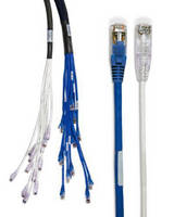 CAT6 Copper Trunk Cabling has reduced diameter design.