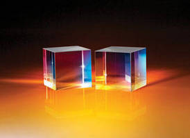Polarizing Cube Beamsplitters offer 3000:1 extinction ratio.
