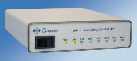 Ethernet to GPIB Controller provides remote gateway access.