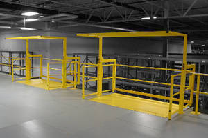 Mezzanine Safety Gate available in double pallet width size.