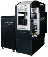 Precision Waterjet Cutting System conserves materials and power.
