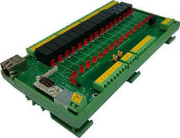 Industrial Relay Controller features LAN (TCP/IP) interface.