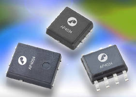 Power MOSFETs suit DC-DC converter applications.