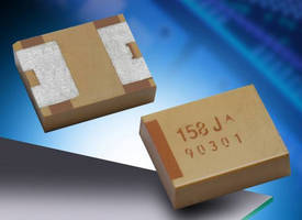 Polymer Tantalum Chip Capacitor features undertab terminations.