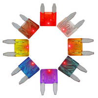 LED Indicator Fuses facilitate open circuit troubleshooting.