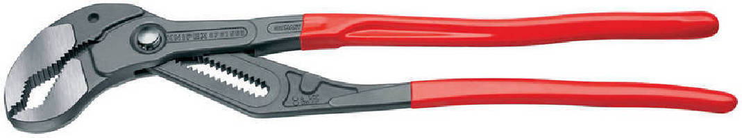 Water Pump Pliers feature push-button, fine adjustment.
