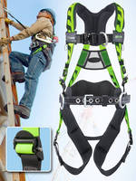 Fall Protection Harness offers breathability and adjustability.