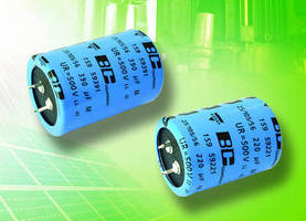 Snap-In Power Aluminum Capacitors have rated voltage of 500 V.