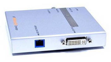 SDI-DVI Converter/Extender carries video over fiber optic cable.