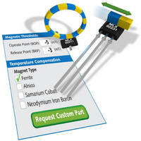 Digital Hall Effect Sensor ICs support low voltage operation.