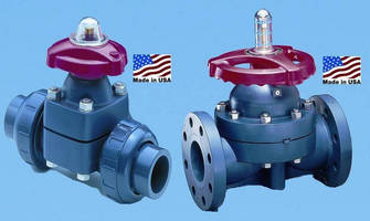 Diaphragm Valves can be electrically or pneumatically actuated.
