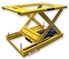 Electric Belt Drive Scissor Lift Table offers static positioning.