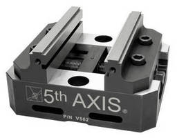 Self-Centering 5-Axis Vise offers max rigidity, clamping force.