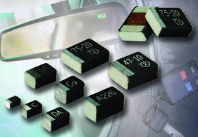 Automotive-Grade Capacitors have volumetrically efficient design.