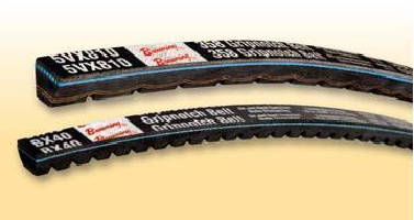 Notched V-Belts feature high-temperature rating.